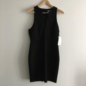 NWT TOBI Tie Front V Neck Sleeveless Bodycon Dress